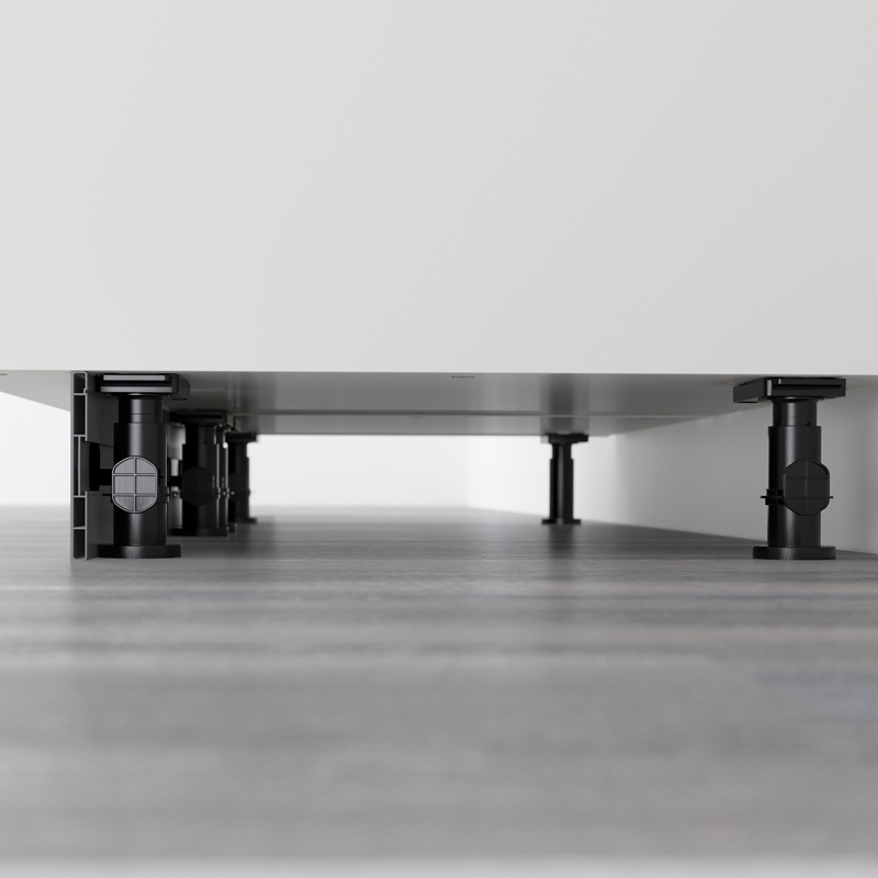 ikea cabinet legs - mounted under each cabinet base