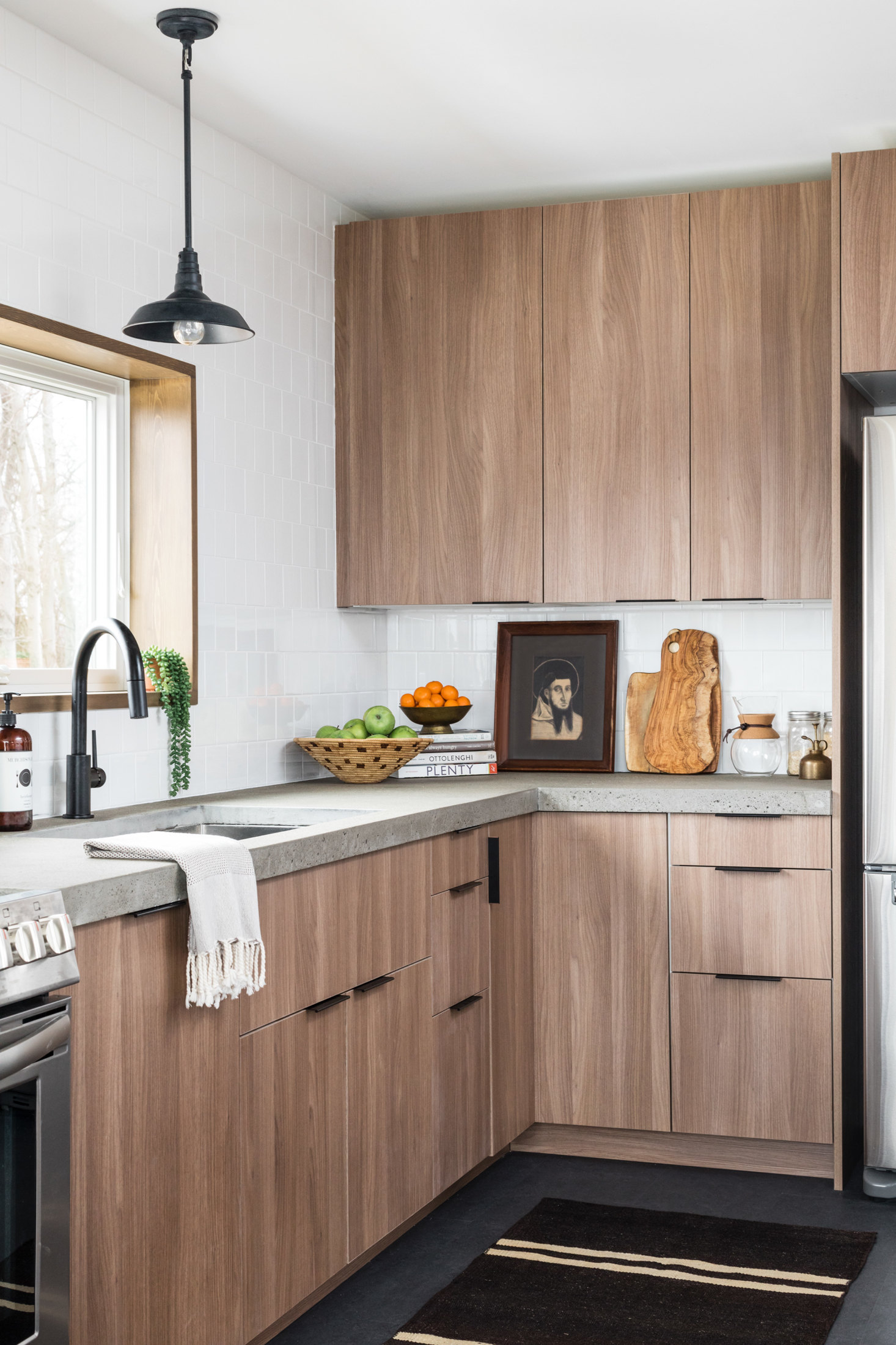 ikea cabinetry with semihandmade cabinet fronts