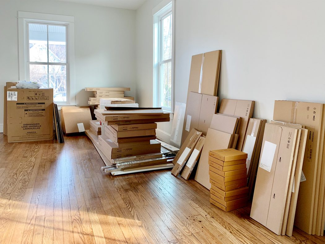 boxed ikea cabinet order - photo by chrislovesjulia