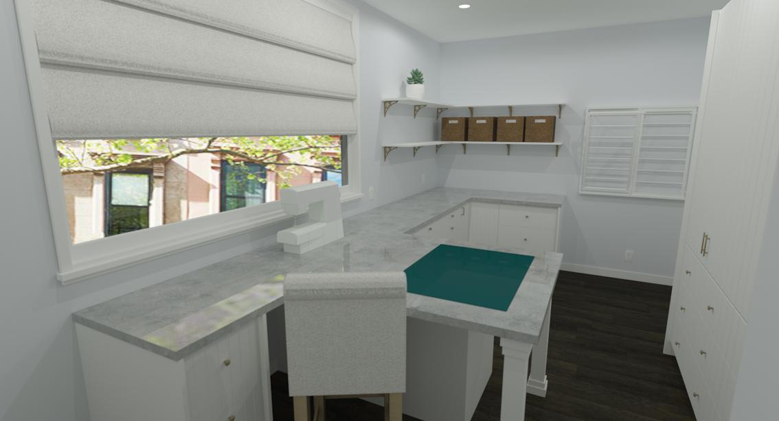 craft studio render custom ikea cabinetry concept