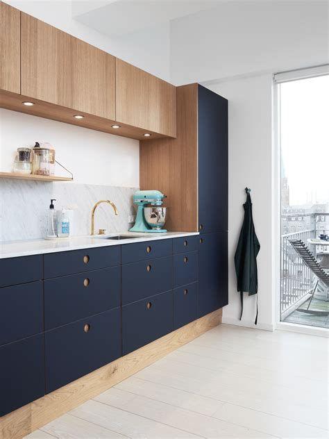two tone custom contemporary ikea kitchen cabinets dark blue walnut
