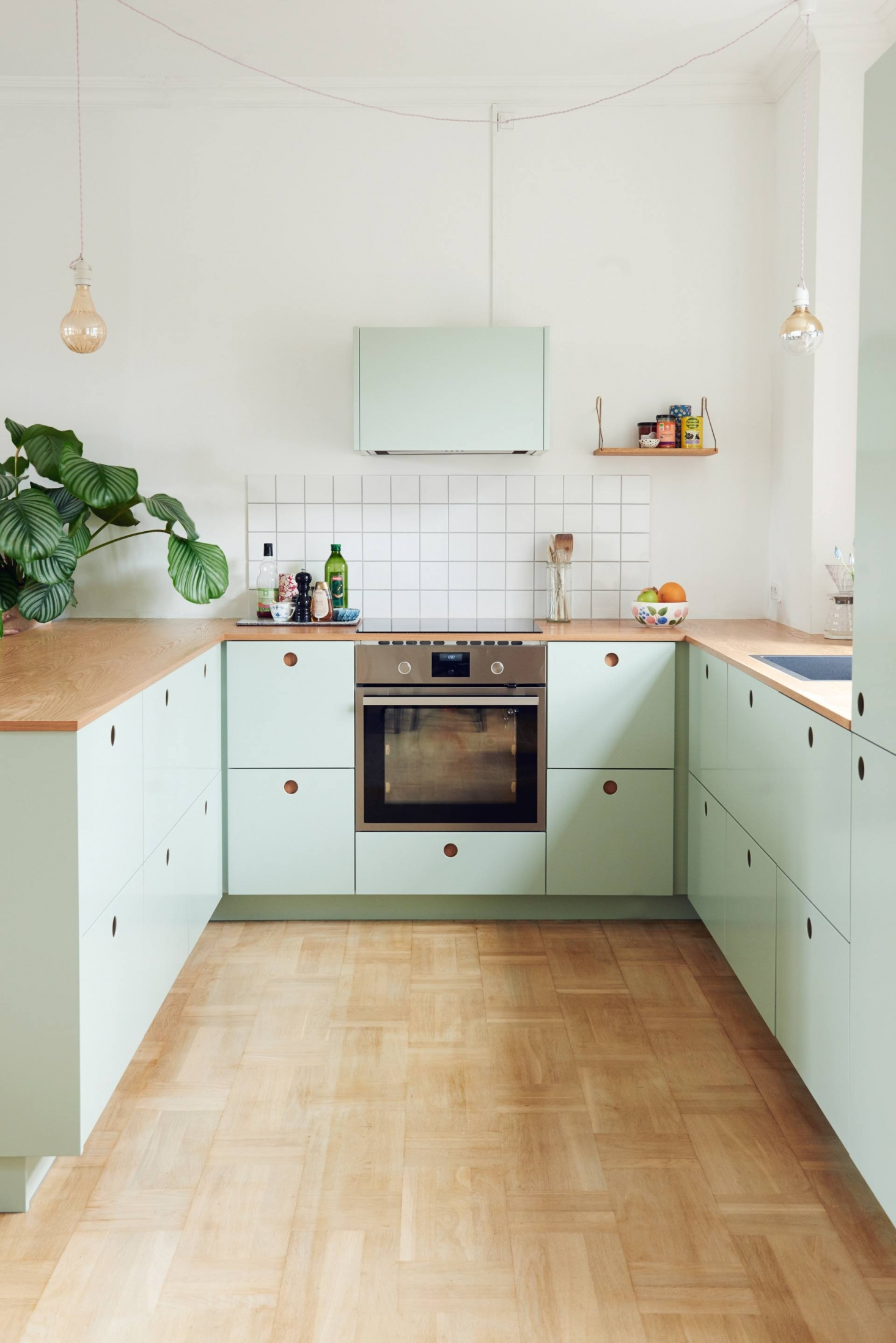 small apartment kitchen custom mint ikea cabinetry