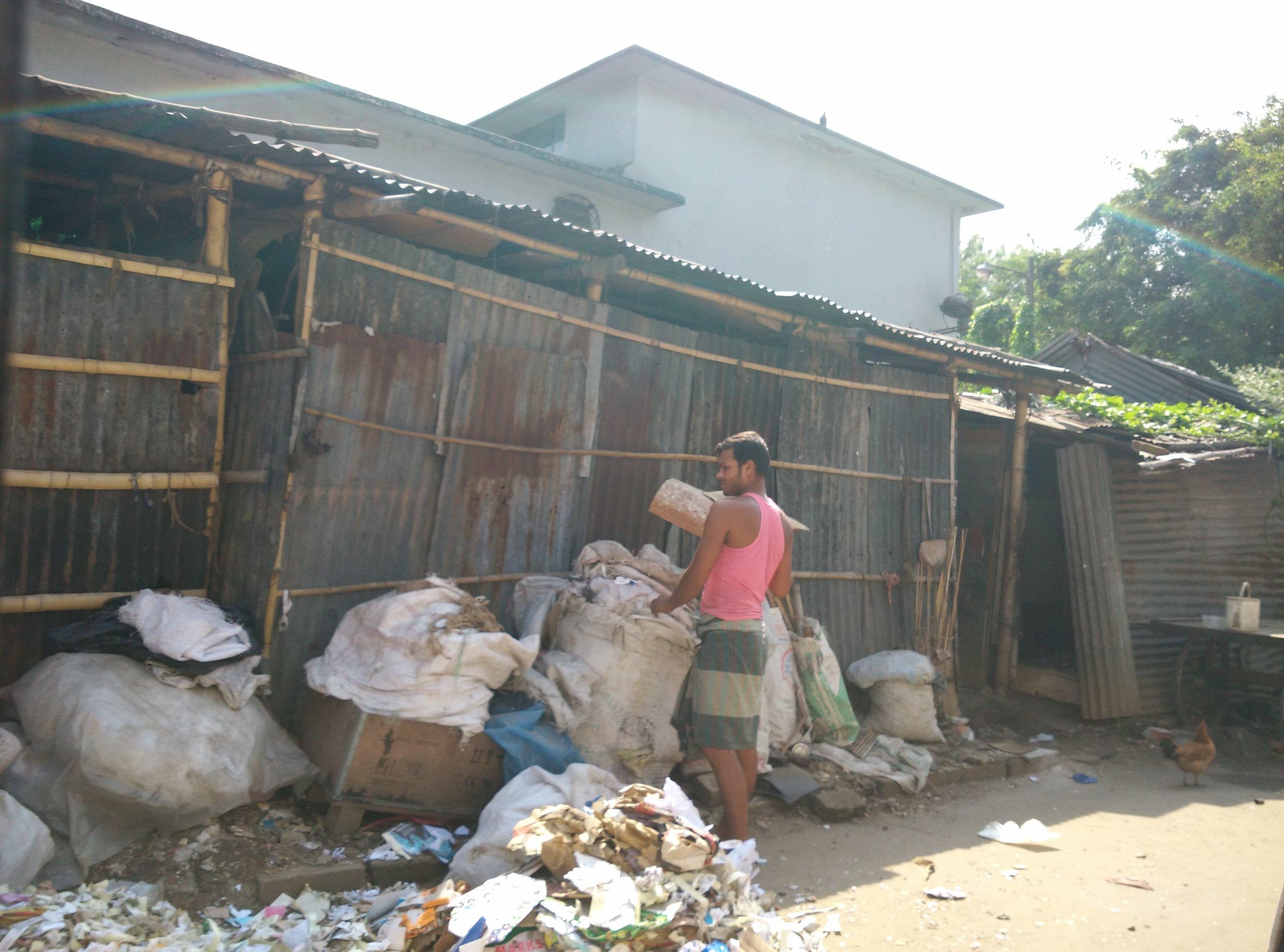 Informal Recycler in Dhaka, Bangladesh. Photo Credit:SMN Uddin
