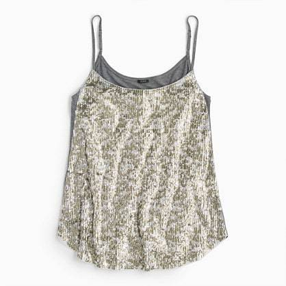 jcrew sequin cami