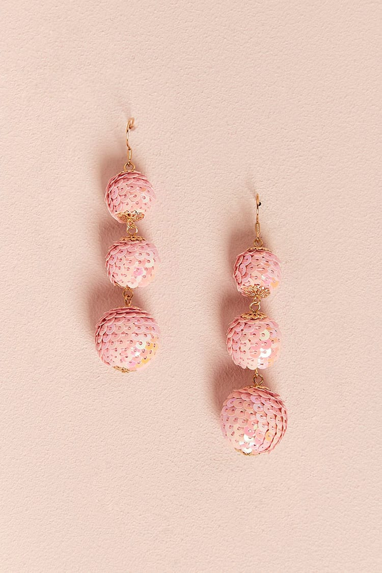 sequin drop earrings