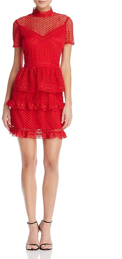short sleeve red dress
