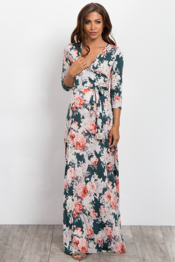 floral maxi maternity dress