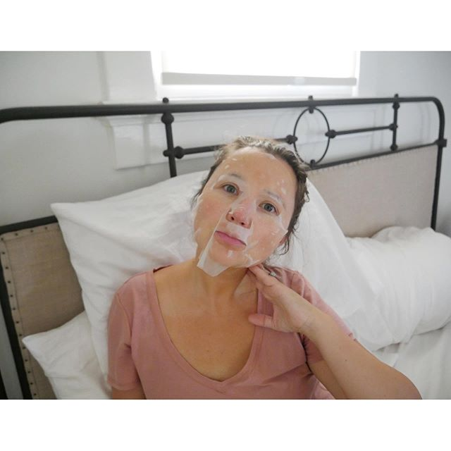 Do something good for your skin this weekend! As the temps change, so does our skin's needs. I love a sheet mask to nourish + plump my skin before an event. This @orgaid Greek Yogurt Nourishing mask is exactly what my skin needed! . . Just apply the sheet to your face. Relax for 20-30 min and remove the sheet. Hello, revitalized skin!