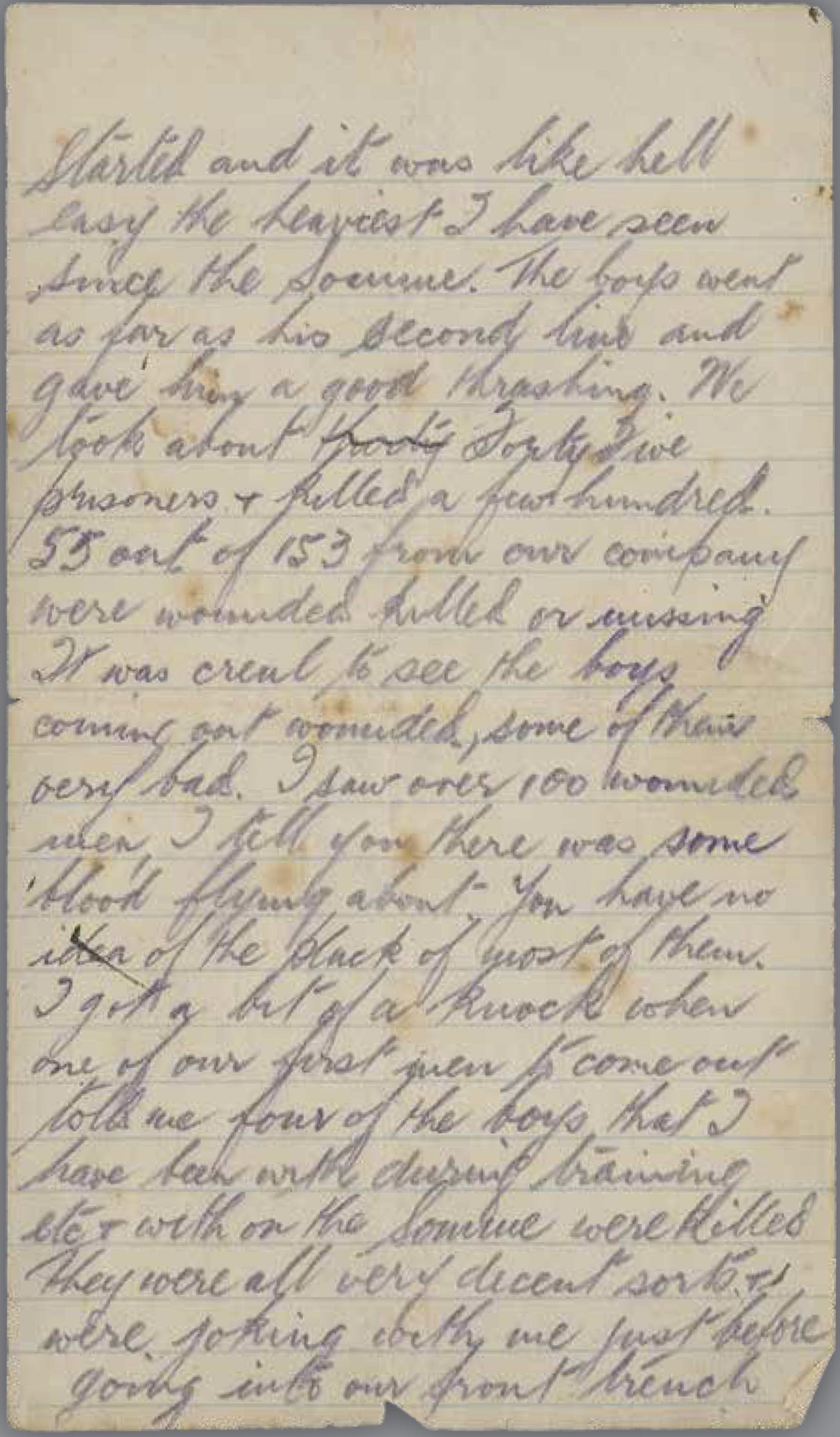Charles's letter home