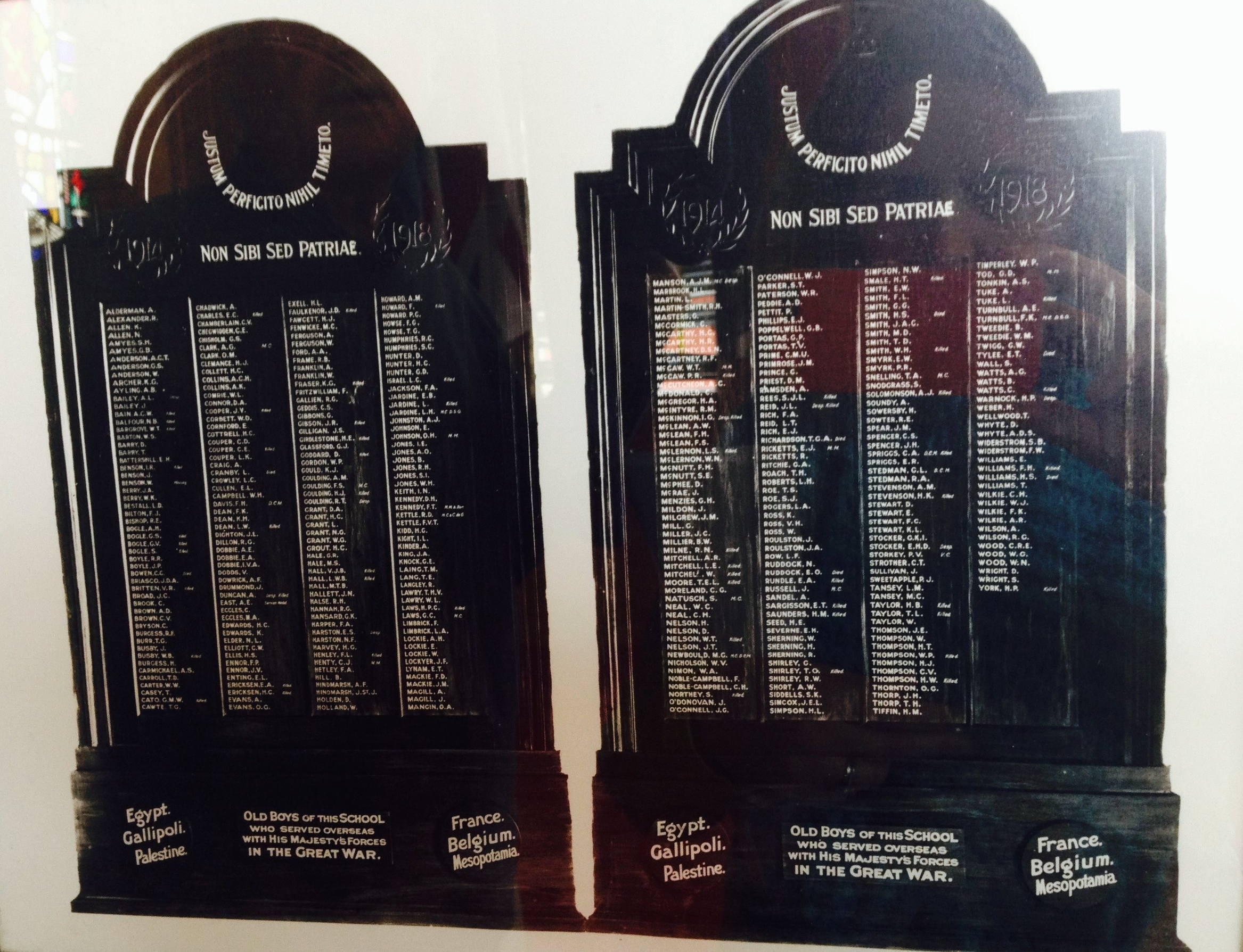 The missing Napier Boys High School Roll of Honour