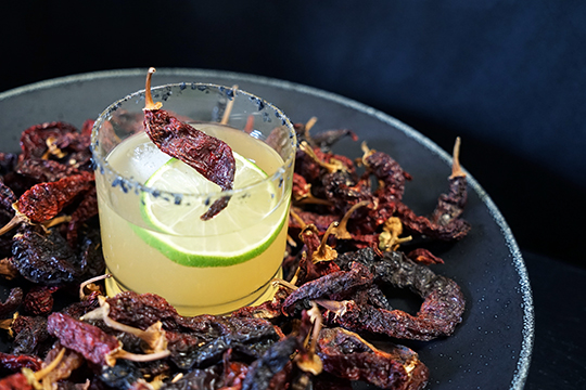 (above) Spicy Mezcal Pineapple Margarita  Photo by : Gastronomista