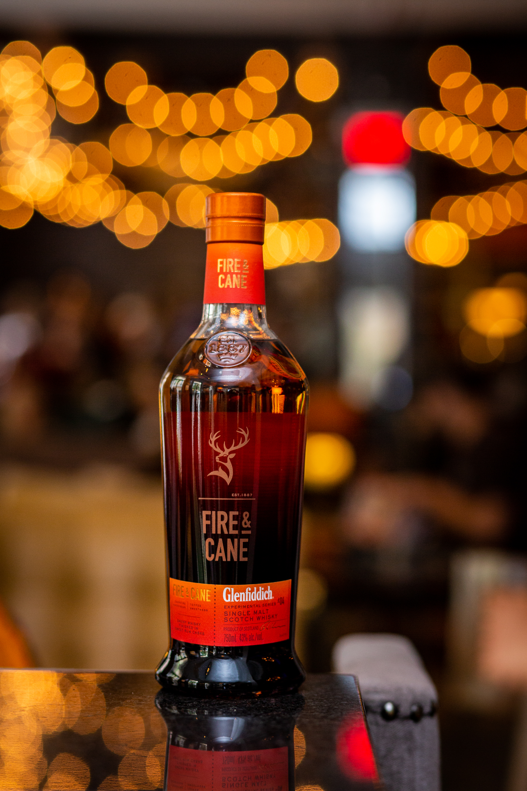 Glenfiddich's latest expression as a part of their experimental series, Fire + Cane. (Photo courtesy of Glenfiddich).
