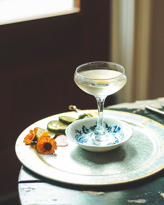 We throw our seasonal house martinis @lawrenceparkhudson 🍸 not only does this elegant technique create a silky and light texture, but it also opens up some of the aromas of the spirit, especially for gin, and keeps the guest engaged. Week 1 is in the books and we can't wait to see some new faces (as well as familiar ones) in week 2! . For all my locals, I'll be behind the stick allll day & night so come visit me 🥂😁.