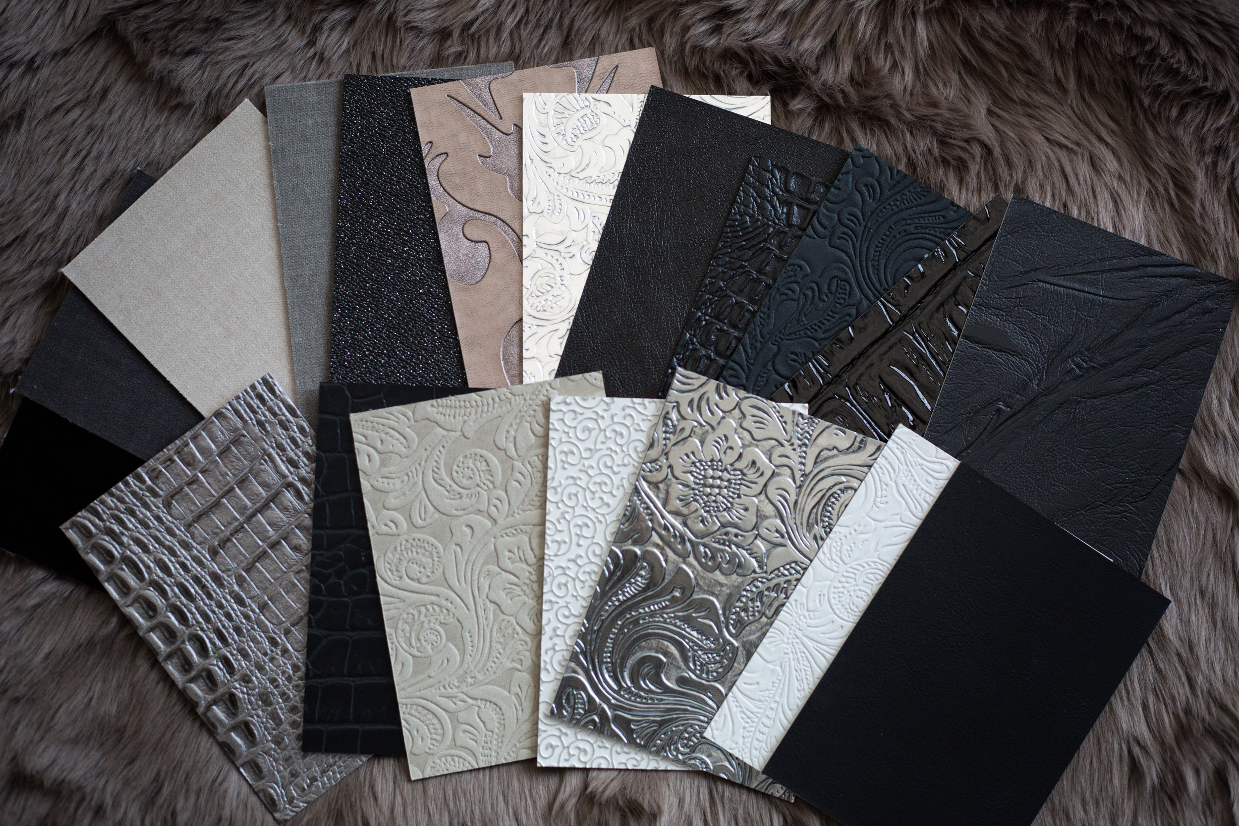 Alll the cover options. Sexy blacks, sparkles, shines, suedes & velvets galore.