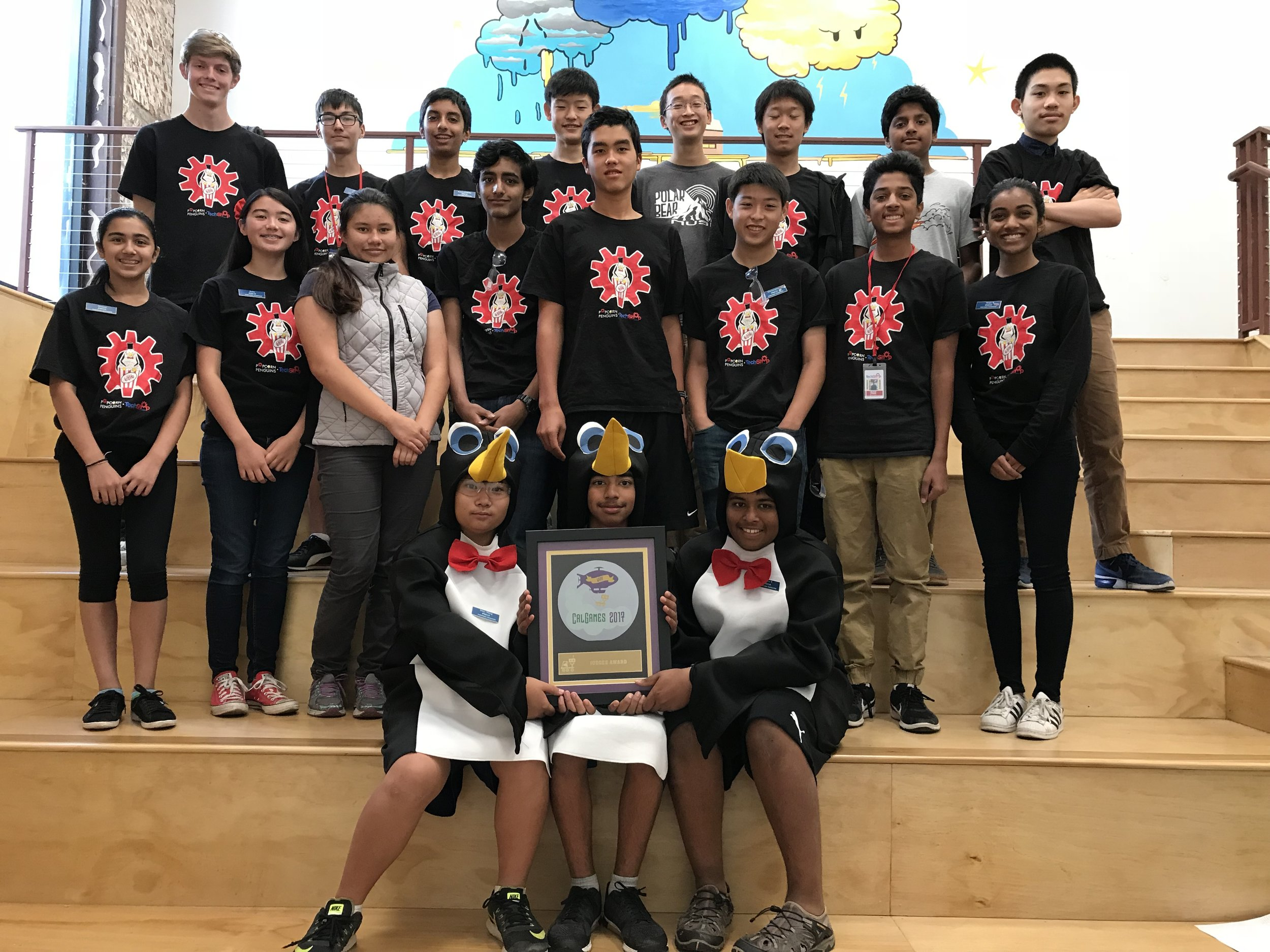 Judges Award! - All our hard work during the past months have payed off! At Calgames, we won the Judges Award with our unorthodox yet beautiful wood robot!