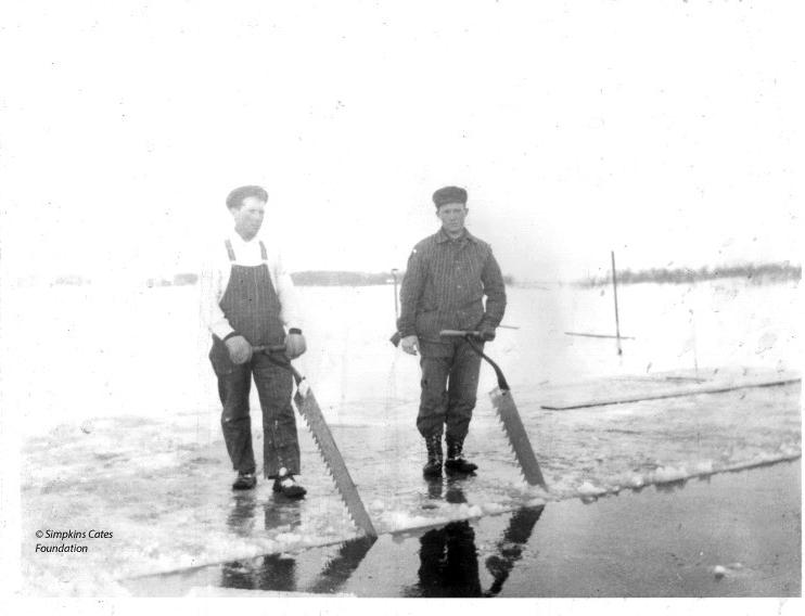 Cutting Ice On Prior Lake