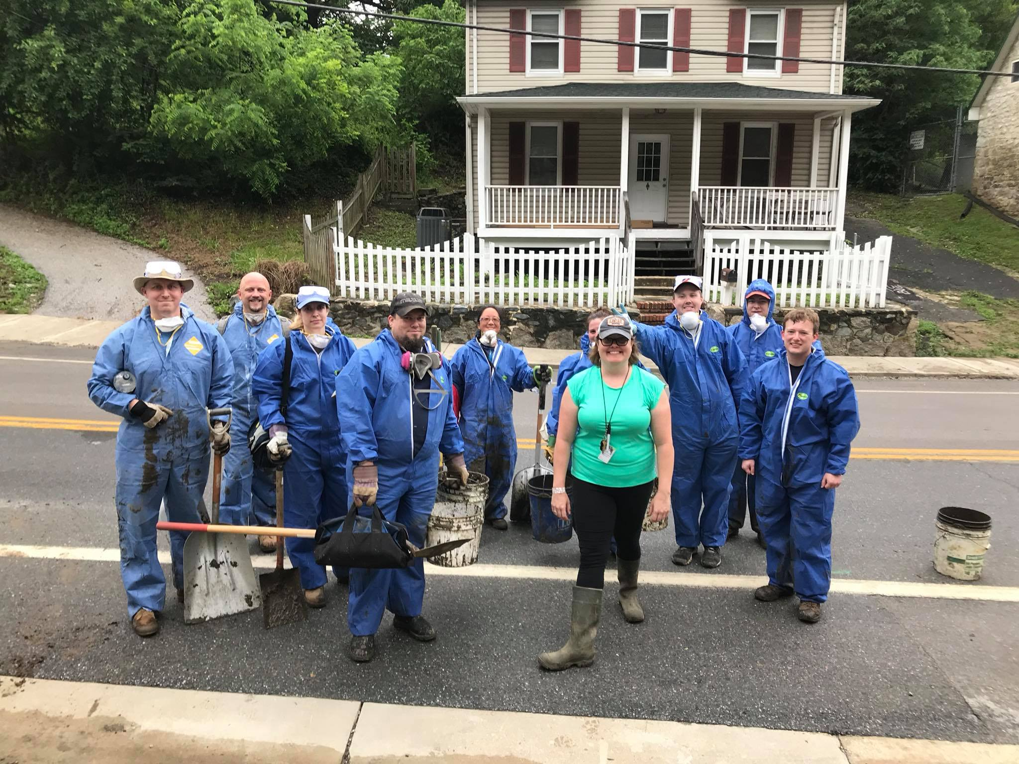 Beth Woodruff and the clean up crew