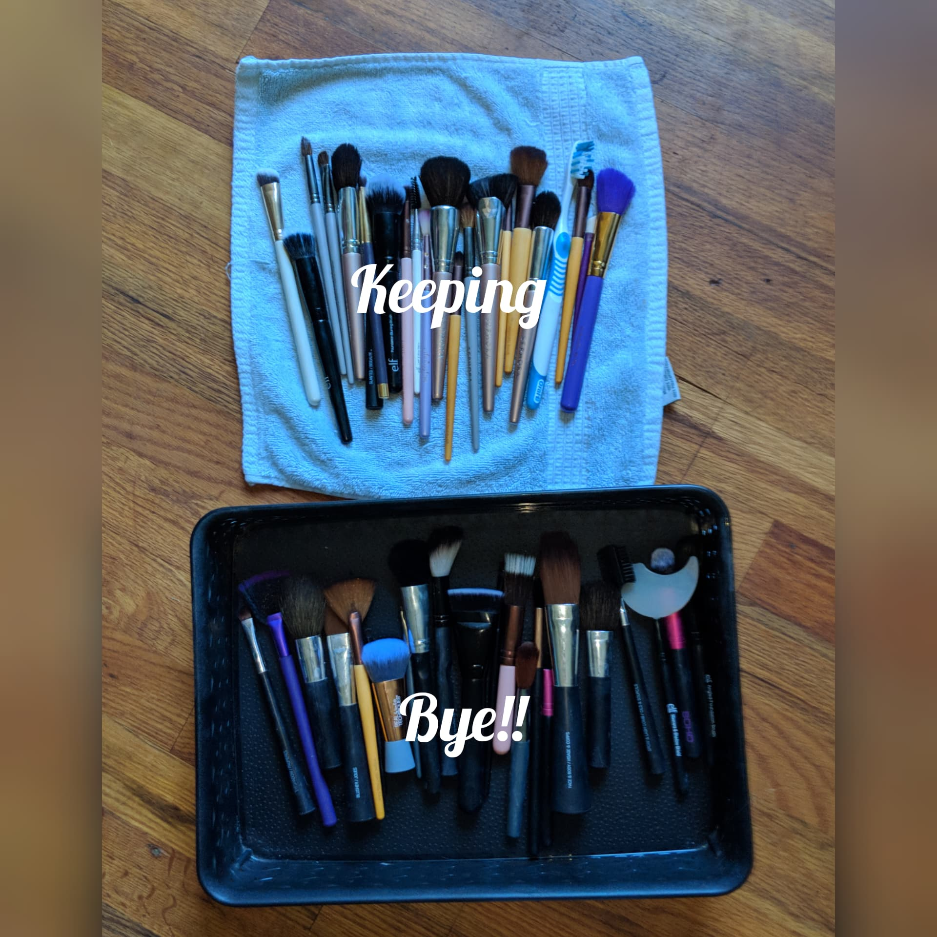 I definitly kept a few duplicate brushes, but this is something I splurge on. haha