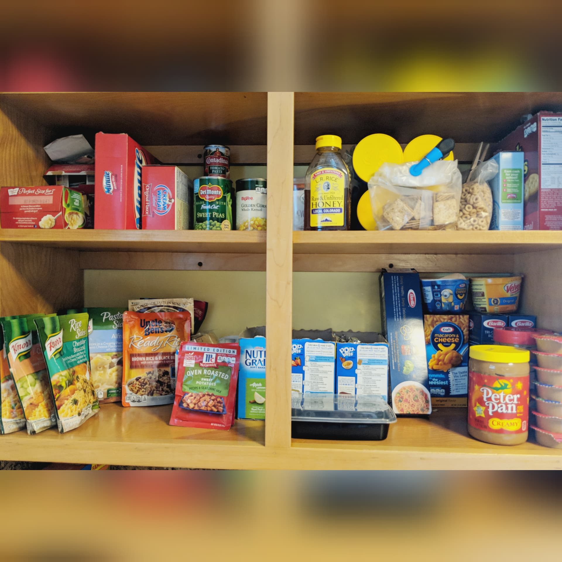 "This is the ""pantry"" we keep in the kitchen, for foods we eat frequently."