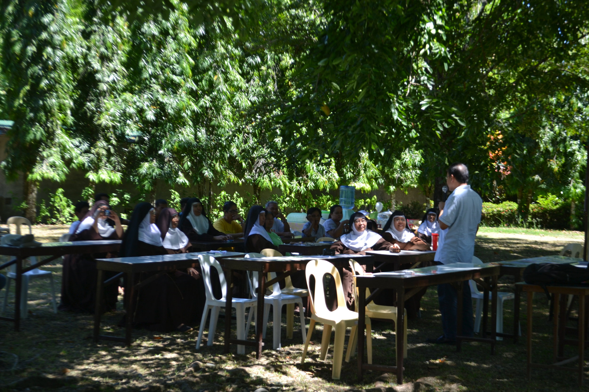 Even if the seminar venue is under the trees, it won't stop us from empowering you!
