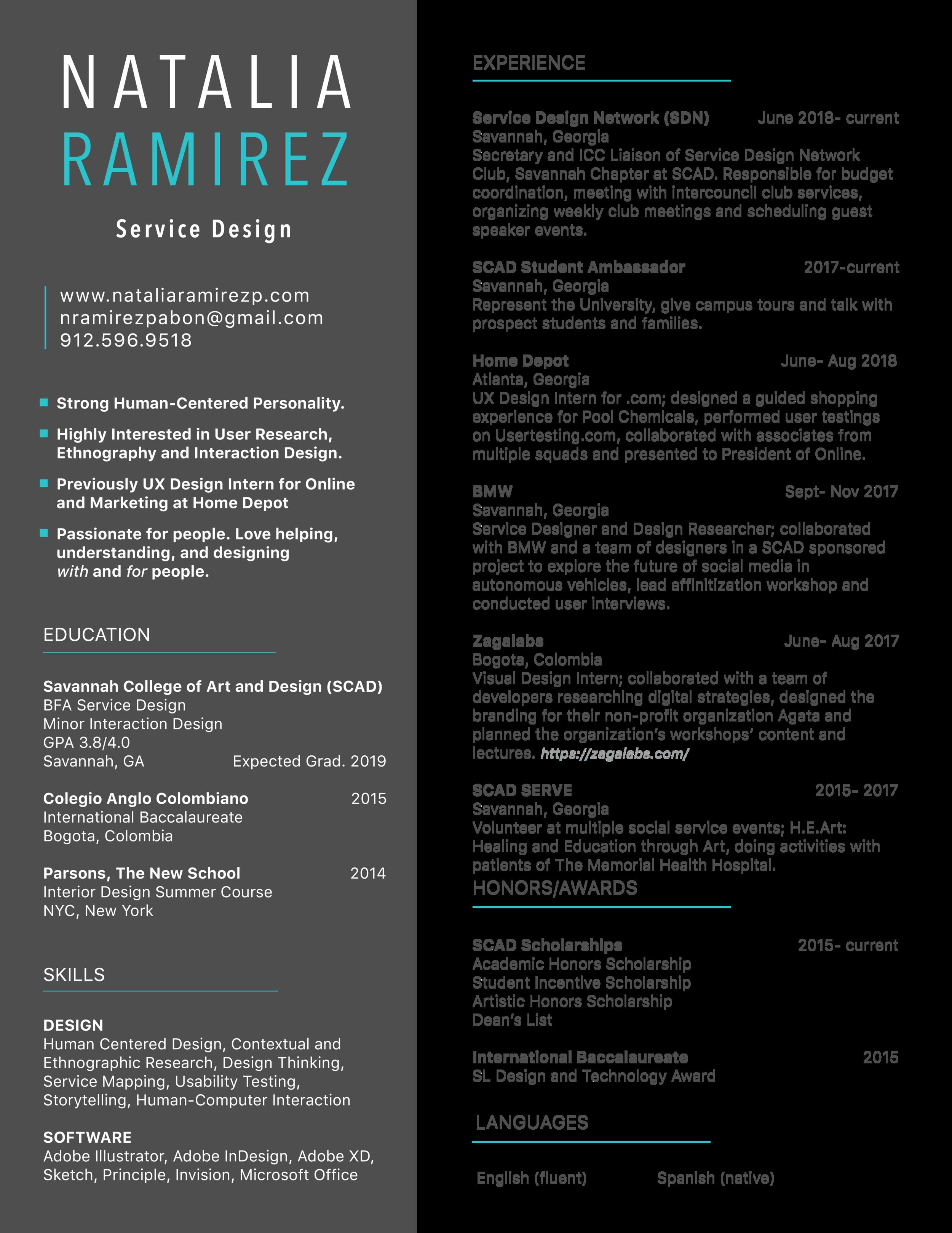 Natalia Ramirez Resume