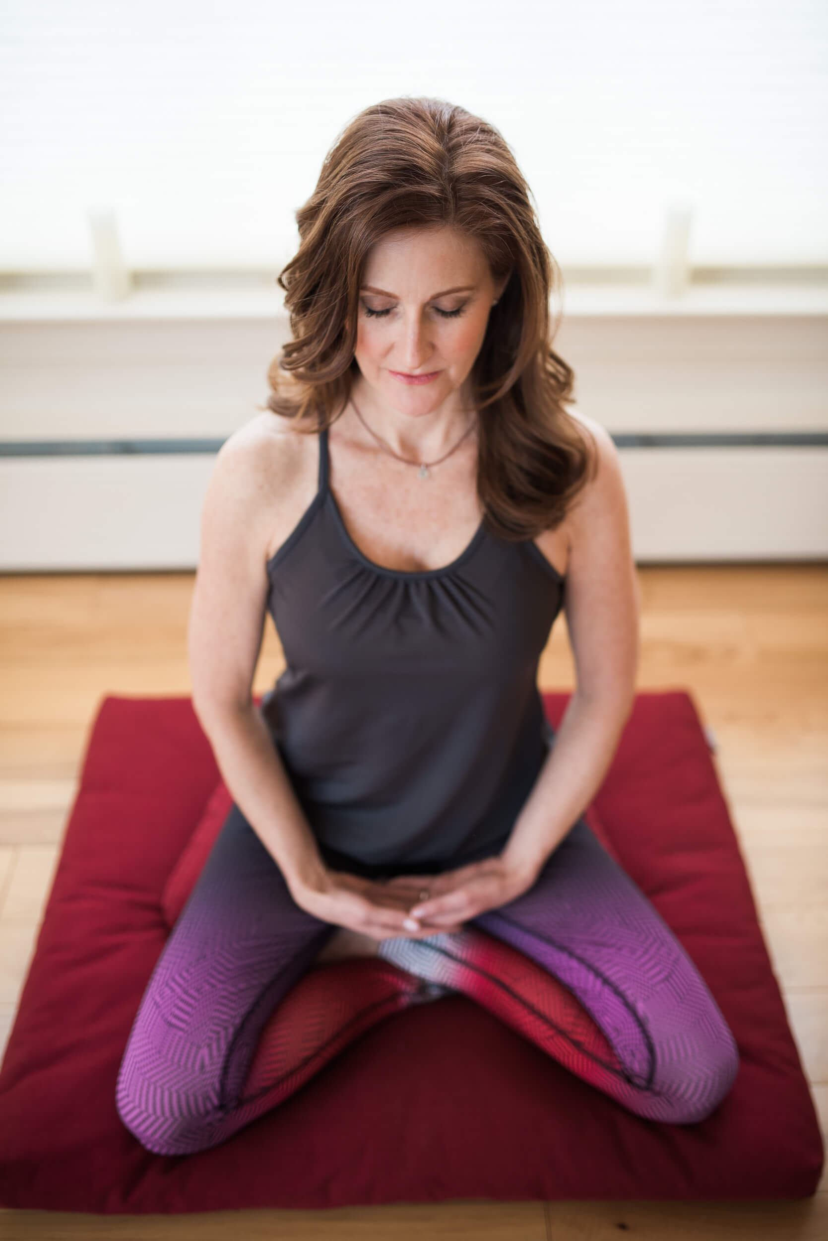 Jamie Spannhake author lawyer yoga meditation headshot book jacket photo Lifestyle Branding Session Valley Spirit Wellness Center Washington CT photo by Lindsey Victoria Photography