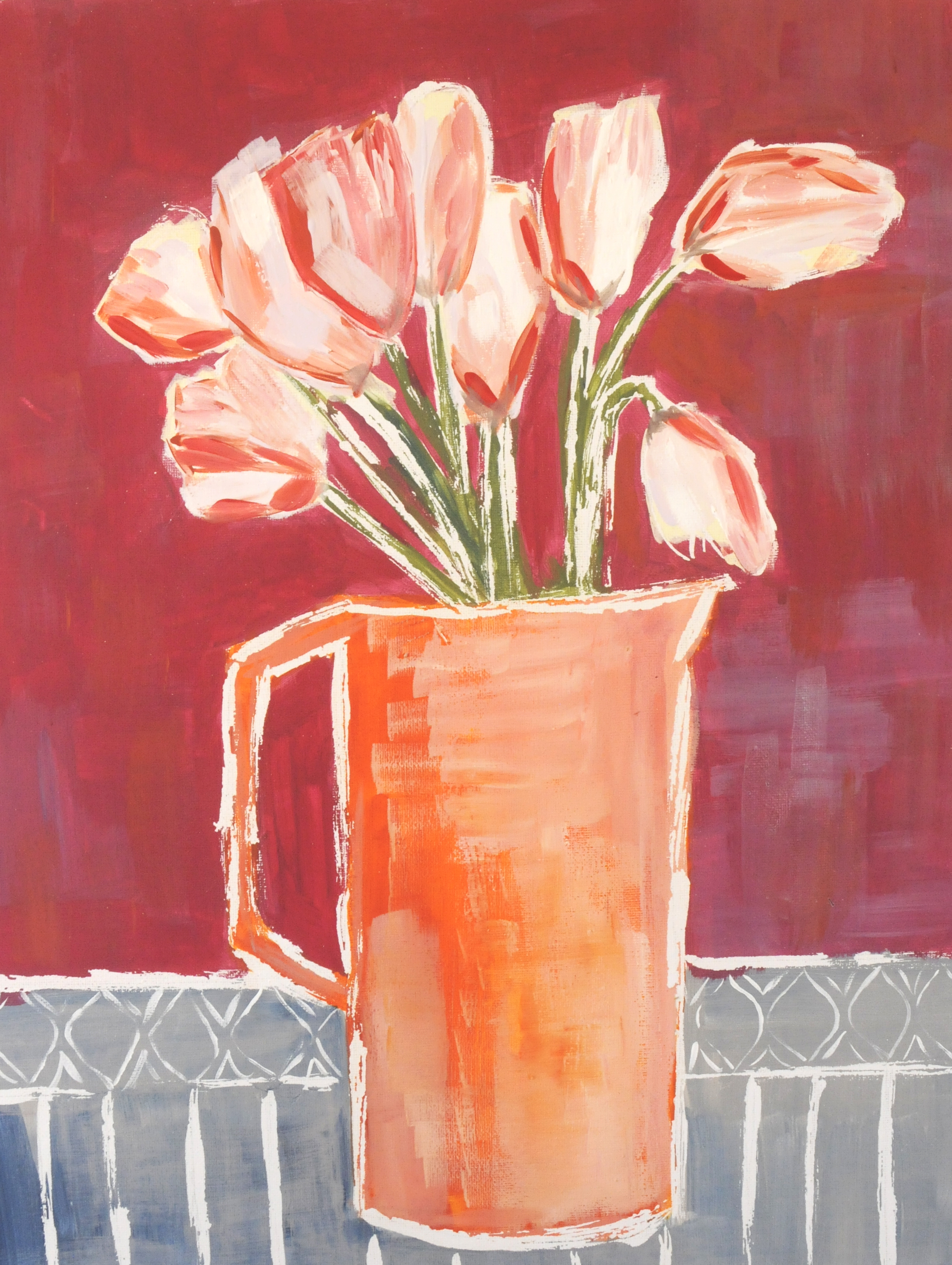 Pitcher of Tulips-SOLD