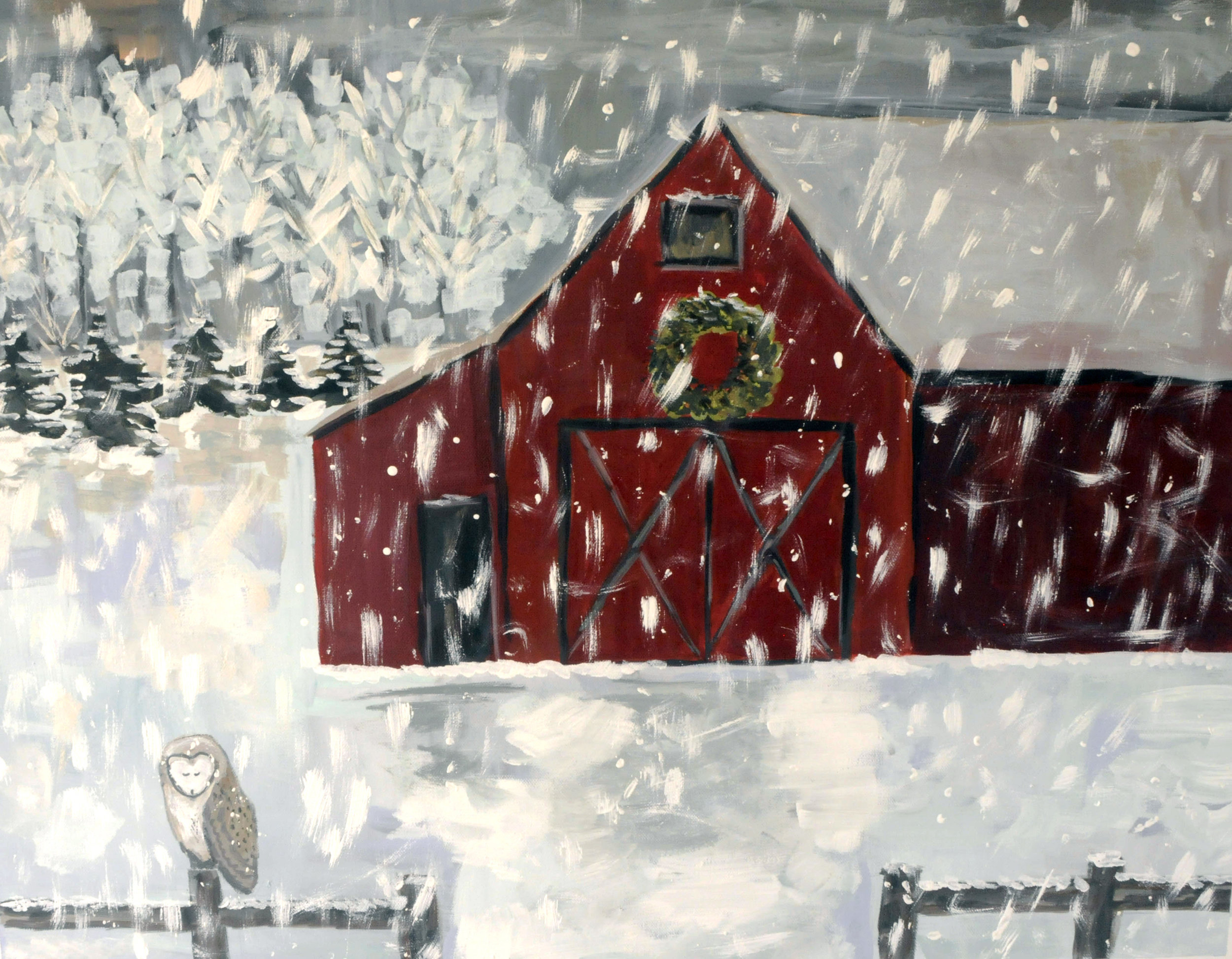 Christmas Barn-SOLD