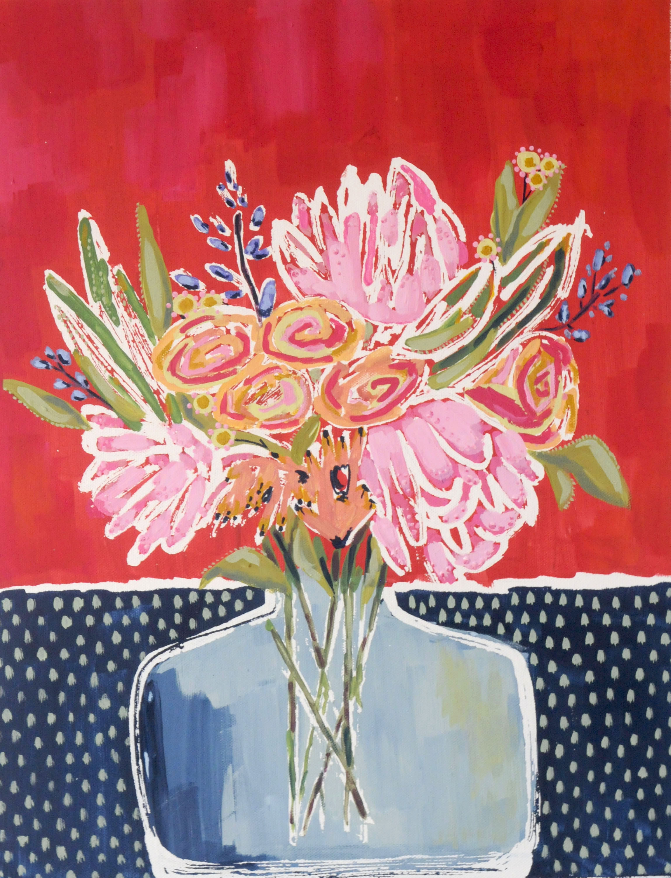 Just Because Flowers-SOLD