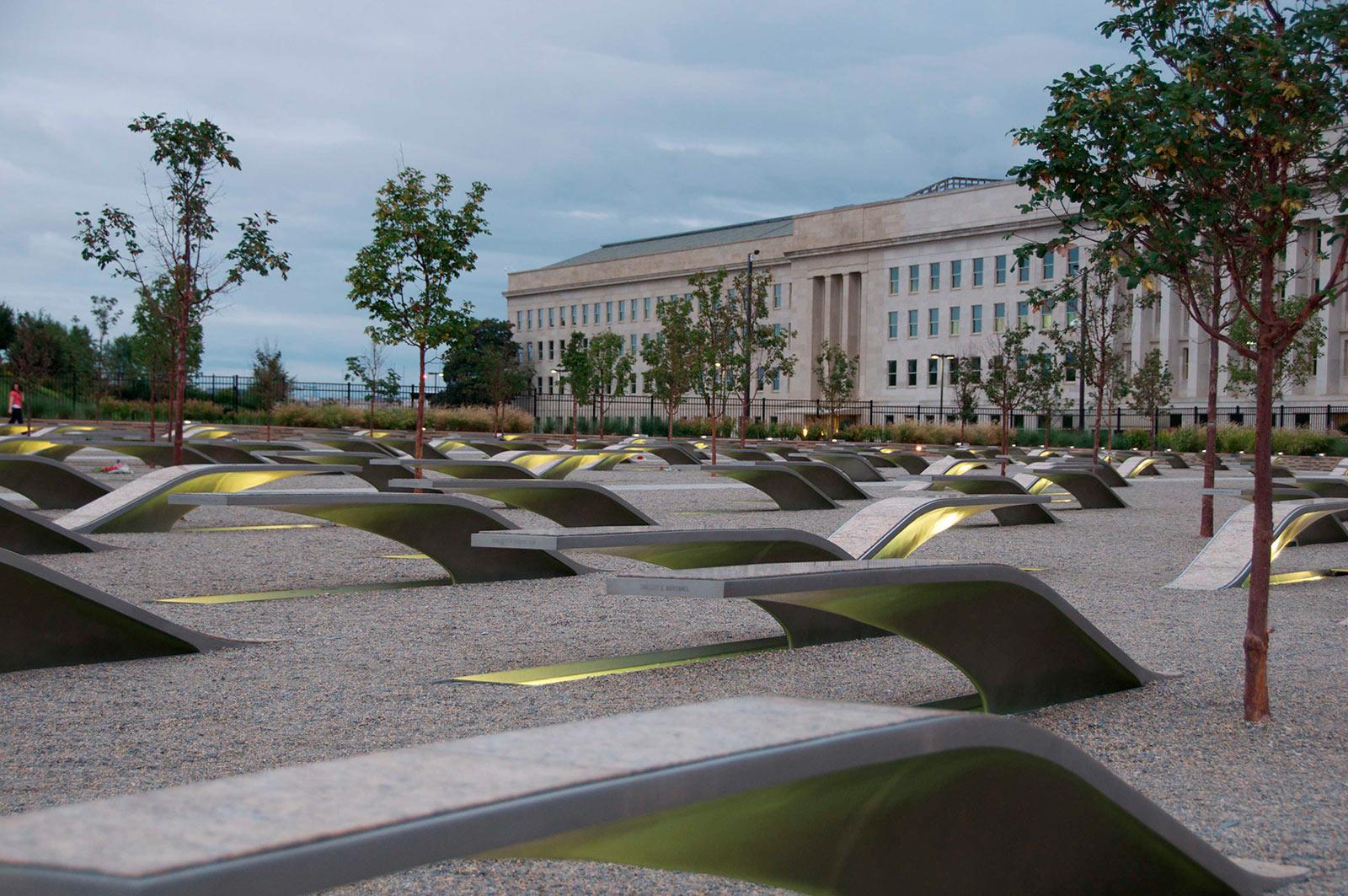 The Pentagon Memorial. Photo courtesy of Washington.org.