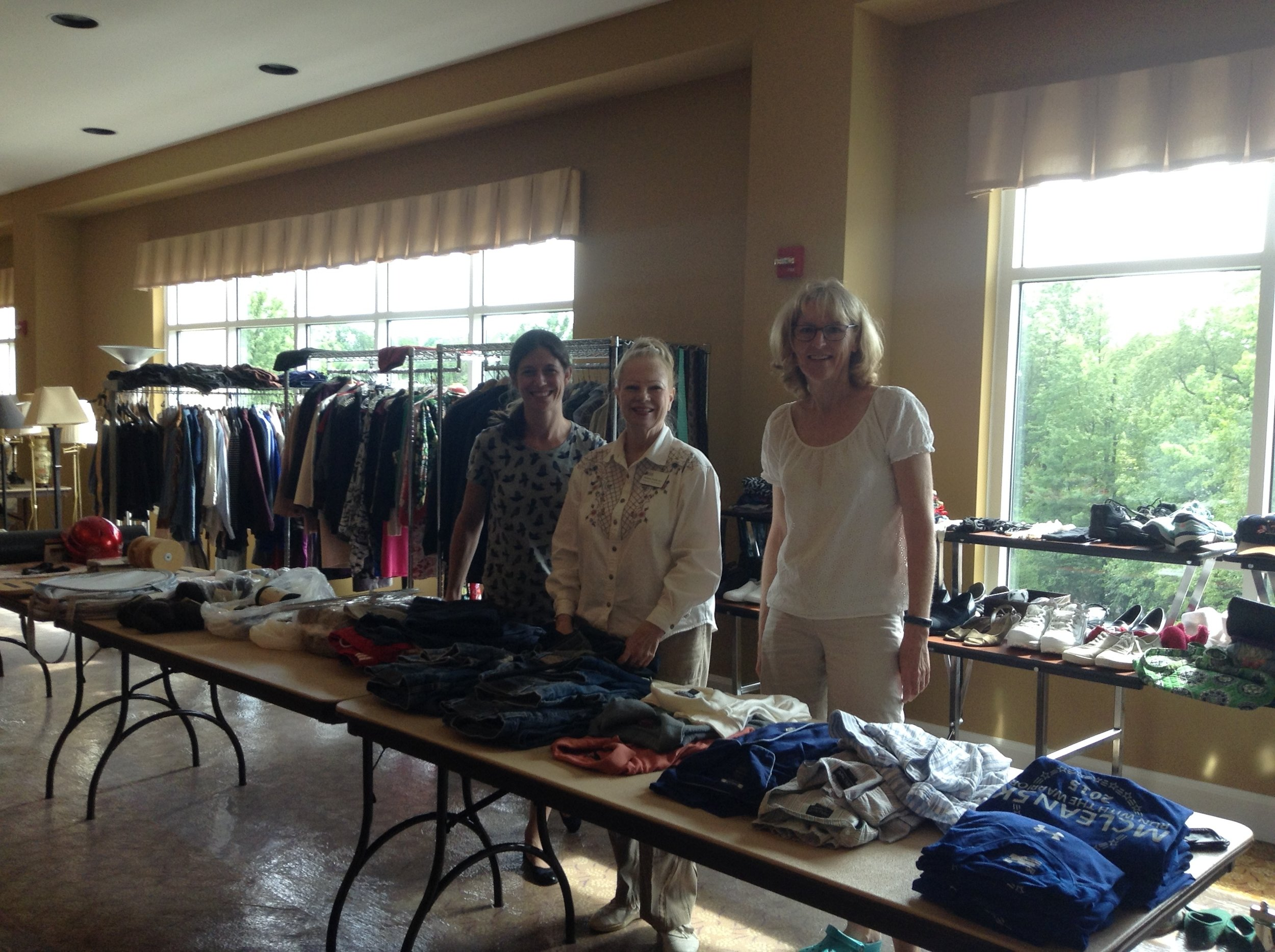 Freedom Hill Daughters assist at the Vinson Hall Navy Marine Coast Guard Residence community yard sale