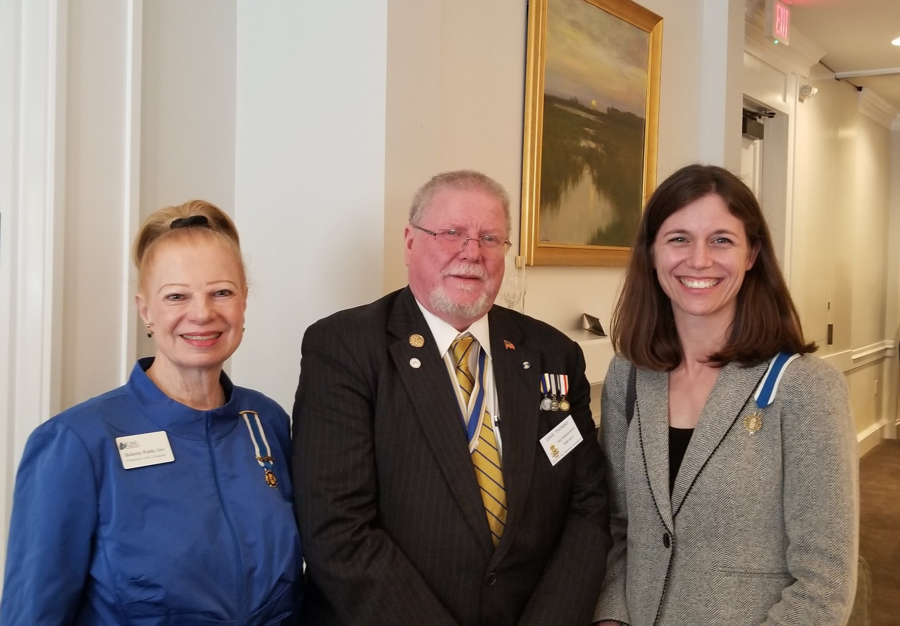 Freedom Hill Daughters help celebrate the 65th anniversary of the George Washington Chapter of SAR, April 2019