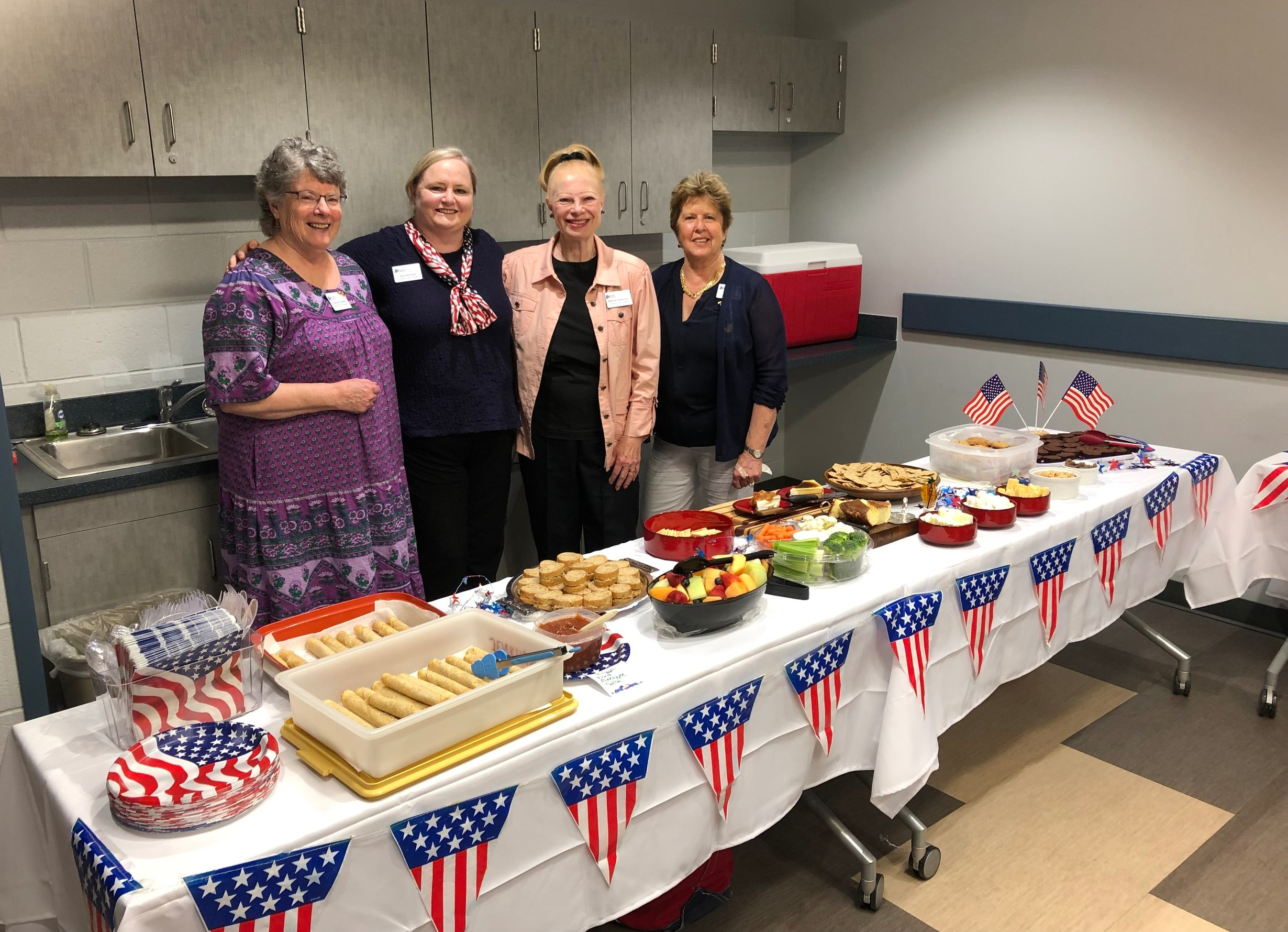 Freedom Hill Daughters prepared a delicious table for our monthly chapter meeting, June 2019