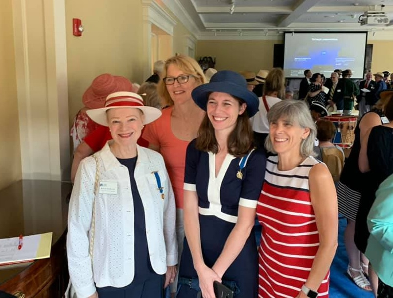 Freedom Hill Daughters attend the George Washington Chapter of the SAR's 58th Annual March to the Tomb and Wreath Laying at Mount Vernon. July 4, 2019