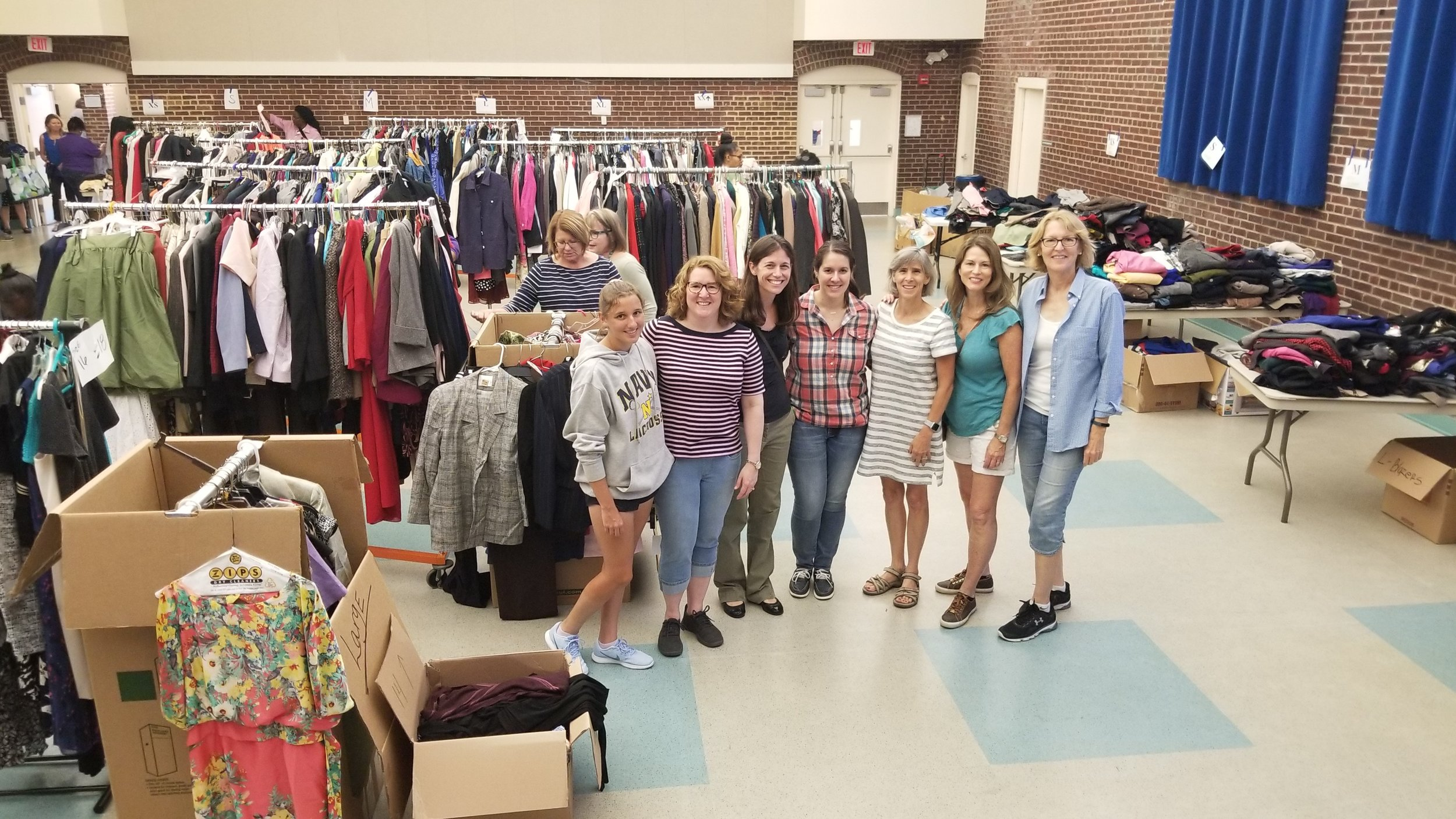 Freedom Hill Daughters volunteer at Final Salute's Next Uniform event for female veterans transitioning to civilian life. August 2019