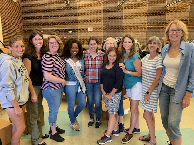 Freedom Hill Daughters meet Miss Veteran America at Final Salute's Next Uniform event for female veterans transitioning to civilian life. August 2019