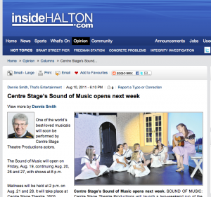 Inside Halton Sound of Music
