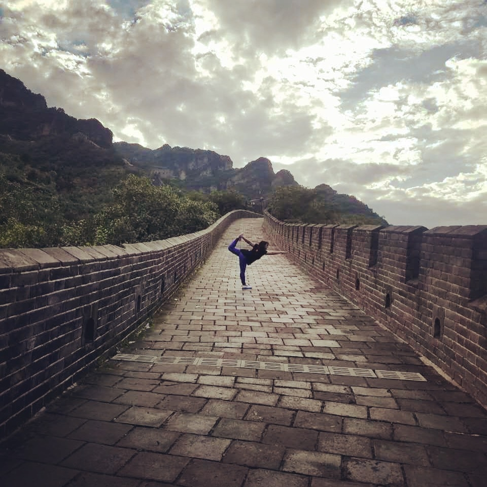 Nahal Haghbin on The Great Wall of China ( 长城, 天津蓟县)