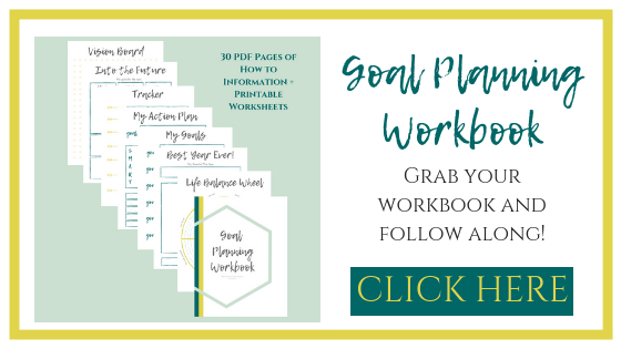 Goal Setting. New Year's Resolutions. Goal Planning Workbook. | www.thesaraross.com
