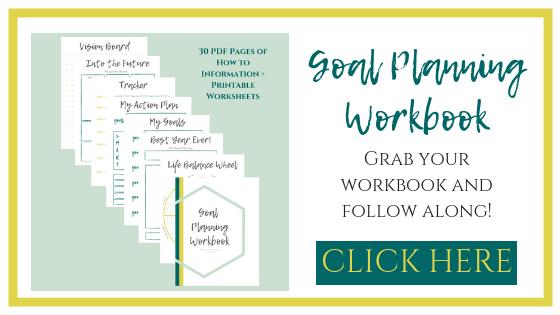 Goal Setting. New Years Resolutions. Goal Planning Workbook. | www.thesaraross.com