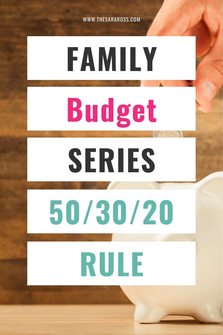 How to budget your money using the 50/30/20 budget rule. Step by step instructions to easily create your monthly family budget. #familybudget #503020budget #oneincomebudget