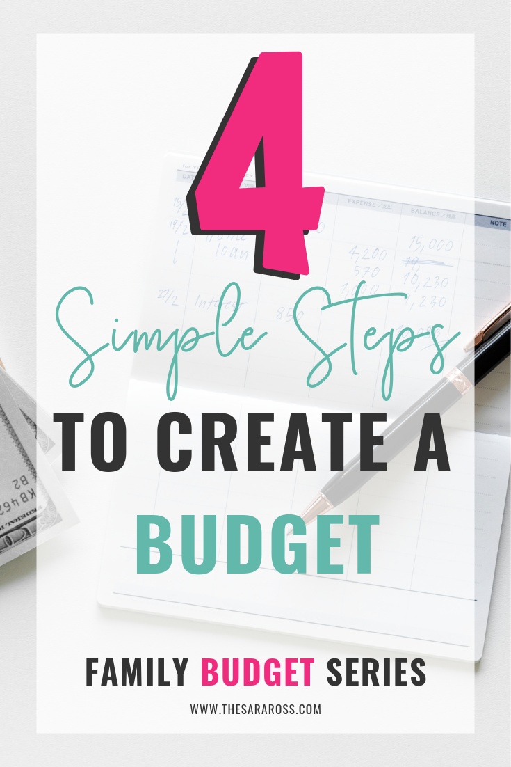 How to create a family budget in 4 simple steps. Step by step budget plan, tools and tips. #familybudget #simplebudgetplan #createabudget