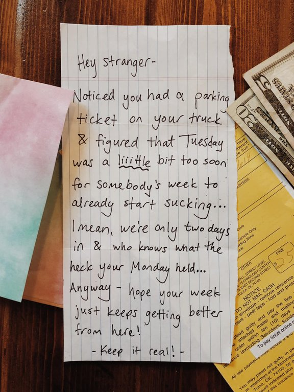 Image from  Reddit . Random Acts Of Kindness.