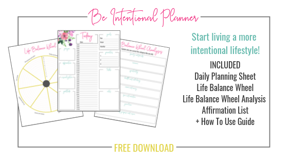 Be Intentional Planner | www.thesaraross.com