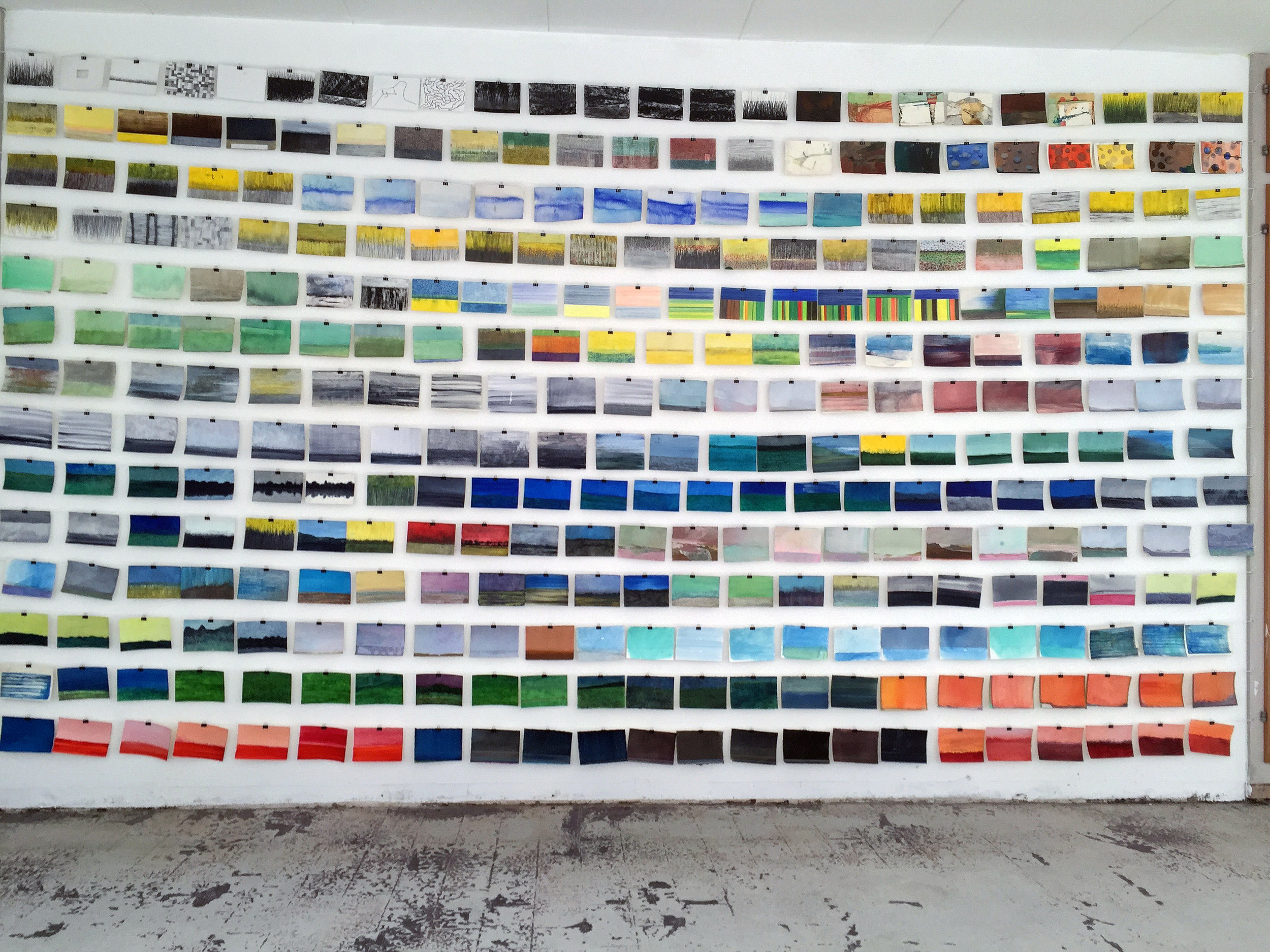 The postcards displayed at Carrosserie Basel May 2016