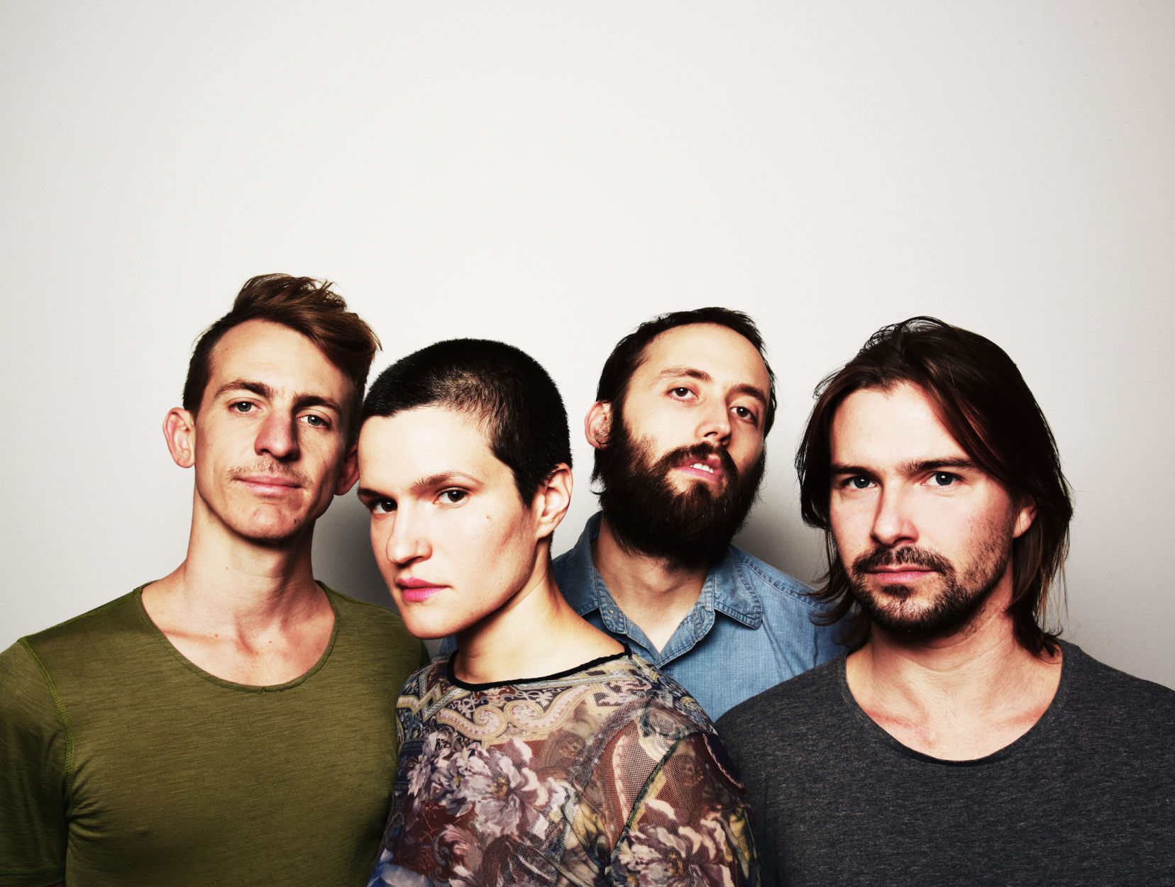 Adrianne Lenker, second from left, fronts Big Thief.  Photograph by Shervin Lainez