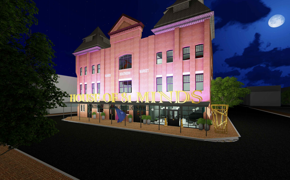 House of 81 Minds concept rendering. Provided by architectural designer, Sarah Holden.