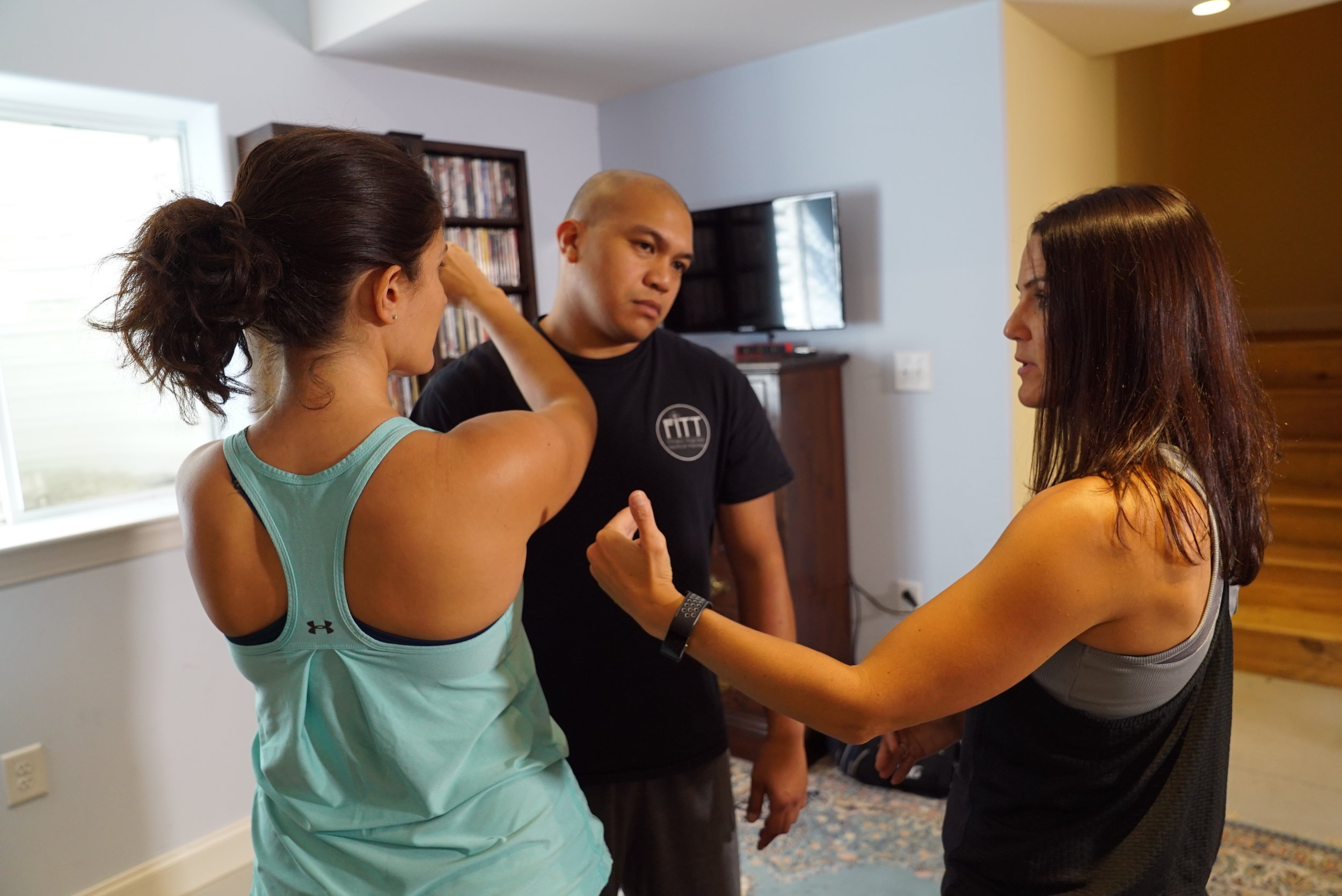 Pictured Kristine Smith of  Fitness Inspired Tactical Training