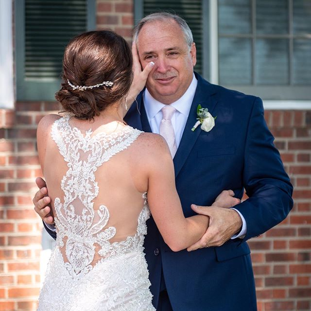One of my favorite things to schedule on the wedding timeline- Special First Look with dad, the first man she ever loved!  Above all the details, what matters most are the people!  I want you to be present and capture these moments for memories the rest of your life!  Who do you know that needs our help? Booking 2020!