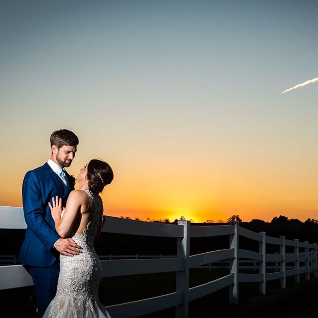 A fabulous sunset shot on the #bestdayever for Meagan and Zach 🔥😍 You can sneak away during your reception, I've got everything under control 😏😊 Get a little alone time to soak it in and try to freeze that moment, because it goes by so fast!